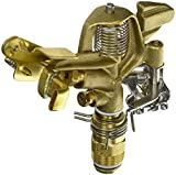 Orbit 55016 Sprinkler System 3/4-Inch Brass Impact Spray Head with 25-48-Foot Coverage