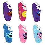Sesame Street Girls 6 pack Socks (Toddler/Little Kid)