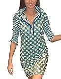 Gretchen Scott Designs Split Neck Jersey Dress in Royal/Kelly Green (XS) offers