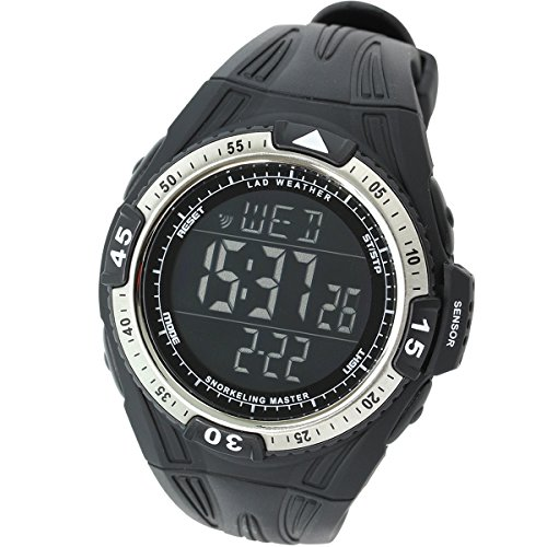 LAD-WEATHER-Snorkeling-100-Meters-Waterproof-Depth-Measurement-water-temperature-Countdown-Timer-Mens-Watch