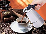 HSP 6 cups Stainless Steel Coffee Maker South Indian Decoction Maker Moka Mocha Pot Perculator -NON INDUCTION TYPE