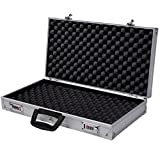Generic O-8-O-1225-O rage Ca Lock Box Hard S Pistol HandGun un Lock Aluminum New Pistol Hard Storage Carry Case d Locki Framed Locking Gun HX-US5-16Mar28-2920