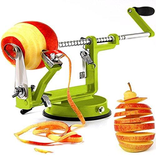 3in1 Apfelschäler Apfelschneider Apfelentkerner Schäler Apfelschälmaschine Entkerner