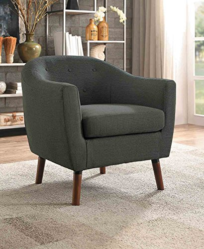 Homelegance Lucille Button Tufted Low-Raised Curved Backrest Accent Chair with Polyester Cover 51ruF8bYFtL