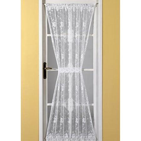 Tonys Textiles Emma Door Net Curtain White Standard Amazoncouk