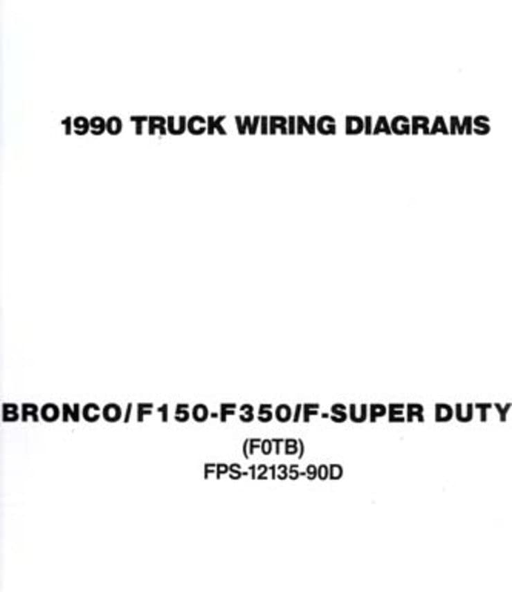 Amazon Com Bishko Automotive Literature 1990 Ford F 150 To F 350 Truck Bronco Electrical Wiring Diagrams Schematics Book Automotive