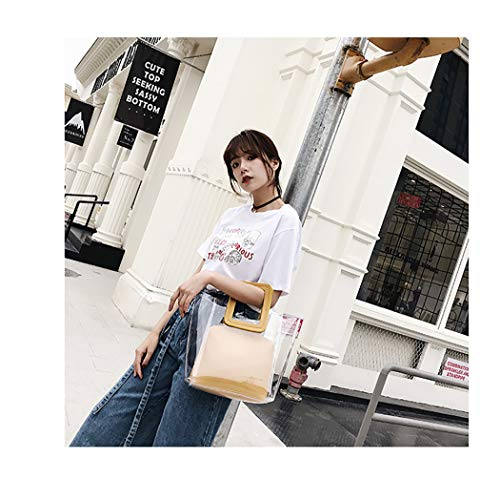 With Yellow match Coafit Through All Inner See Handbag Bag Clear Tote qqt1w8v