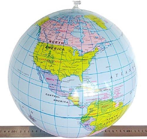 6 x Mallon® 40 cm Inflable Globo de Mundo Teach Educación ...