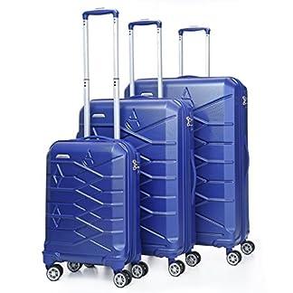 Aerolite Maleta, azul (Plateado) – ABS315 BLUE 3 PCS SET Vendor