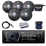Best Pyle Car Door Speakers - PYLE PLRMR27BTB Marine Bluetooth Receiver Stereo(Black) w/Pyle Waterproof Review