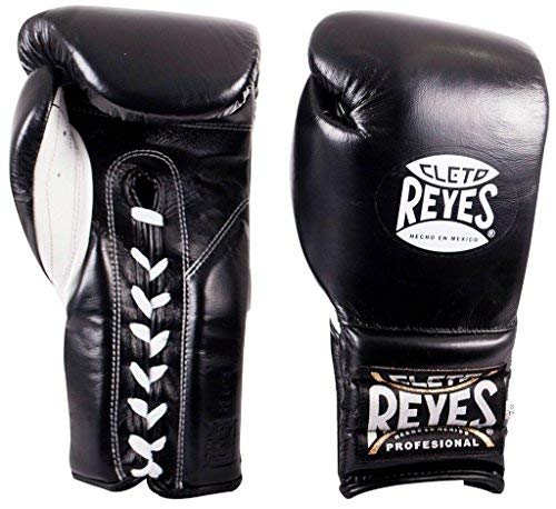 Cleto Reyes Training Gloves With laces and attached thumb - Black - 12oz [並行輸入品] B07T3ZXXB2