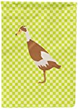 Caroline's Treasures BB7691CHF Indian Runner Duck Green Canvas House Flag, Multicolor