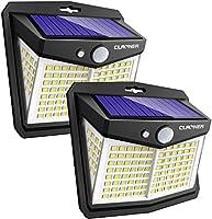 Claoner Solar Lights Outdoor, Upgraded Wireless Solar Motion Sensor Security Light 270° Solar Powered Lights IP65 Solar...