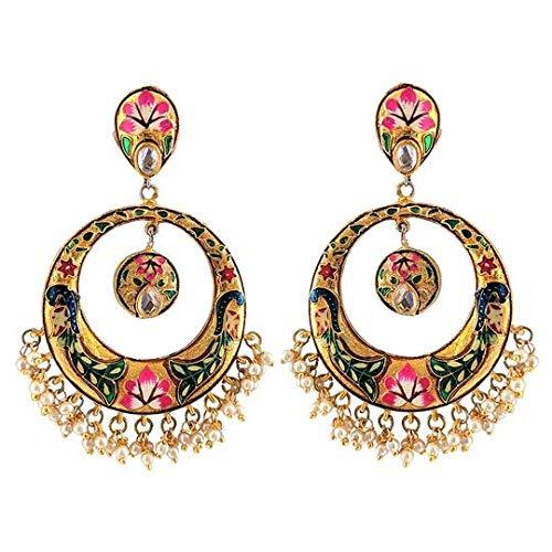 Golden Peacock Earrings -