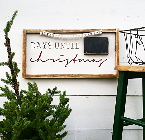 christmas countdown sign farmhouse christmas decor rustic holiday cottage holiday days until - Countdown Till Christmas Decoration