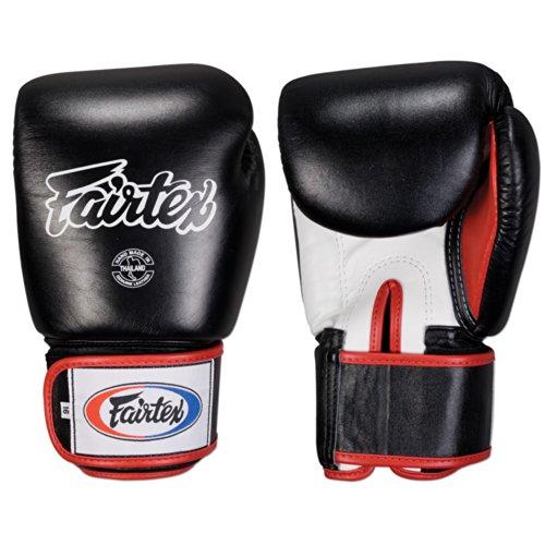 Ringside Fairtex Muay Thai-Style Sparring Glove,Black/White,16 Ounce (Thai Muay Boxer)