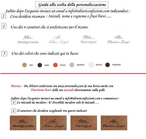Borsello in pelle uomo artigianato italiano L18XH20XP4 cm Mod : Goliv Mini Black