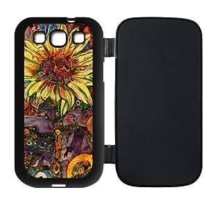 Sunflowers Design Custom TPU Flip Case Cover Protector Skin For Samsung Galaxy S3