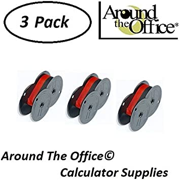 Around The Office Compatible Package of 3 Individually Sealed Ribbons Replacement for Adler 1121-PD Calculator