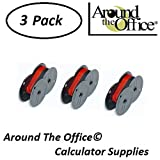 Sharp Model CS-2850A Compatible CAlculator RS-6BR Twin Spool Black & Red Ribbon by Around The Office