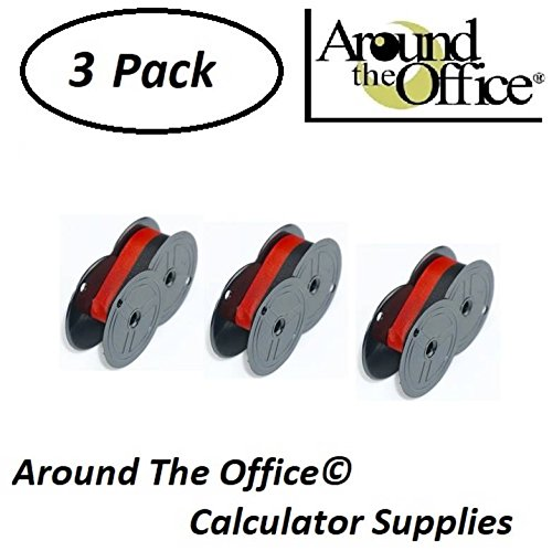 Victor Model 860 Compatible CAlculator RS-6BR Twin Spool Black & Red Ribbon by Around The Office by Around The Office