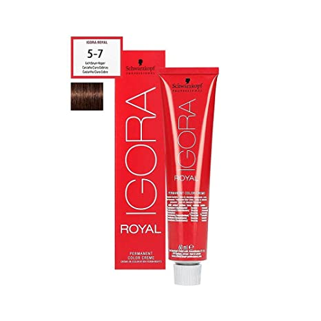 938424e55b Schwarzkopf - Coloration Igora Royal - 60ml nuance 5-7 chatain clair cuivre