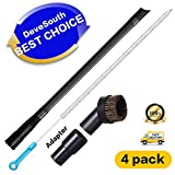 4 Pack Dryer Vent Cleaner Kit -27.5inch Clothes Lint Trap Flexible Brush and 1.25 inch Crevice Tool Brush Set for all Vacuum Hoses Accepting 1 1/4