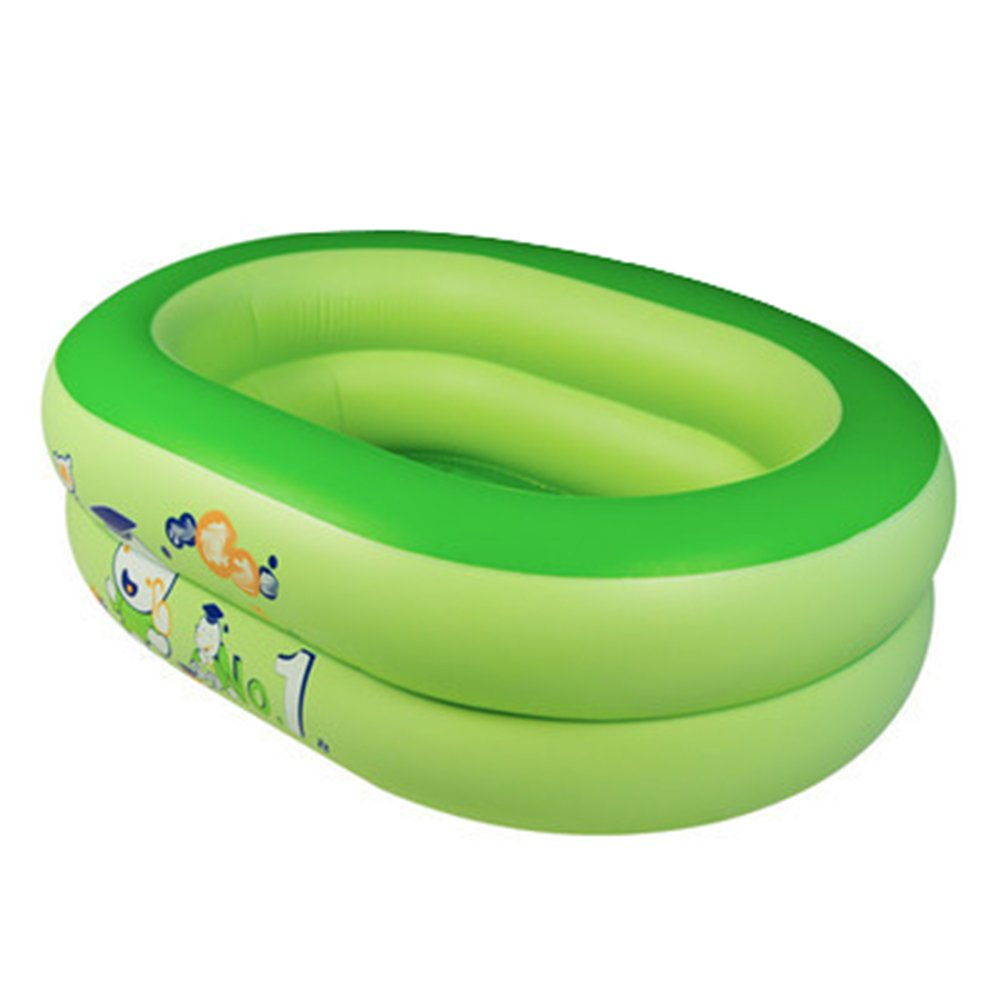 Inflatable Bathtub, Pvc Thick Non-slip Foldable Portable Convenient Large Wash Basin Ordinary Pool/Blue/Green (Color : Green)