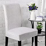 QsyyHome Chair Cover Clipcovers Removable Stretch Elastic Protector Covers For Dining Room Hotel Banquet Ceremony Party