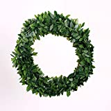 7.5 Meters Small Leaves Artificial Christmas Wreath Garland - Unlit