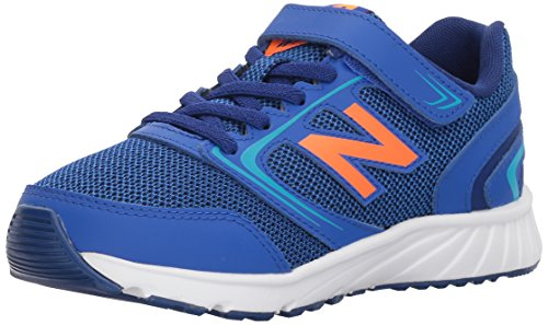 New Balance Boys' 455v1 Hook and Loop Running Shoe, Pacific/Dynomite, 2 M US Little Kid (Boys Gym Shoes)
