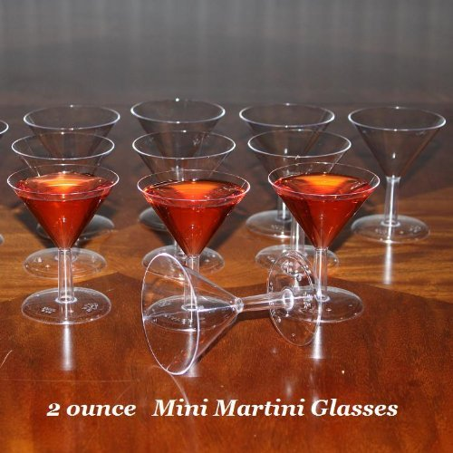 (Mini Plastic Martini Glasses - Case of)