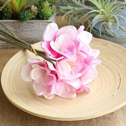 YJYDADA Flower,Fake Flowers Orchid Floral Wedding Bouquet Bridal Hydrangea Exquisite Decor (Pink)