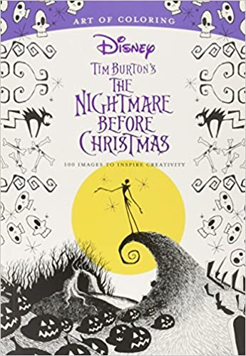 Amazon.com Art of Coloring Tim Burton\u0027s The Nightmare