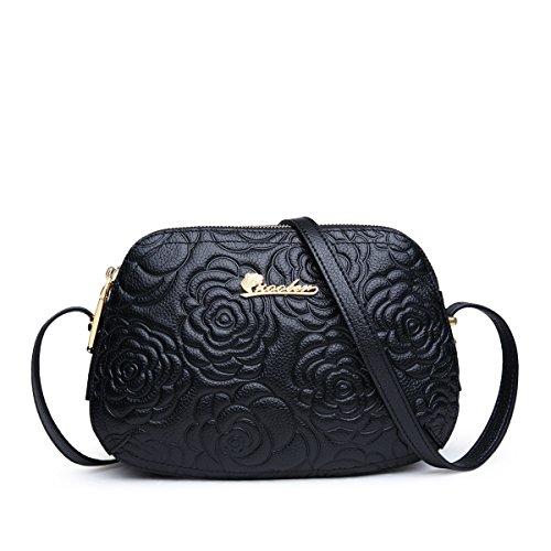 Stylish Purses ZOOLER Crossbody for Zipper Leather Handbags Genuine Ladies Pocket and Shoulder Black Bags xXrXwvAq