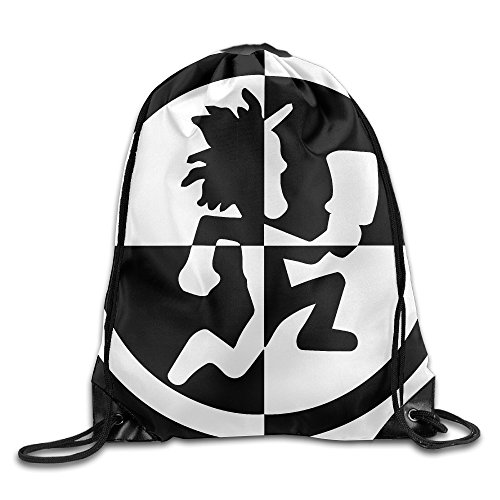 Insane Clown Posse Joker Cards - FOODE Hatchetman ICP Black And White Hatchet Man Logo Drawstring Backpack Sack Bag