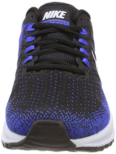 Nike Men's Air Zoom Vomero 13 Training Shoes Multicolored (Black/Blue Coureur/Teint Blue) JPALm