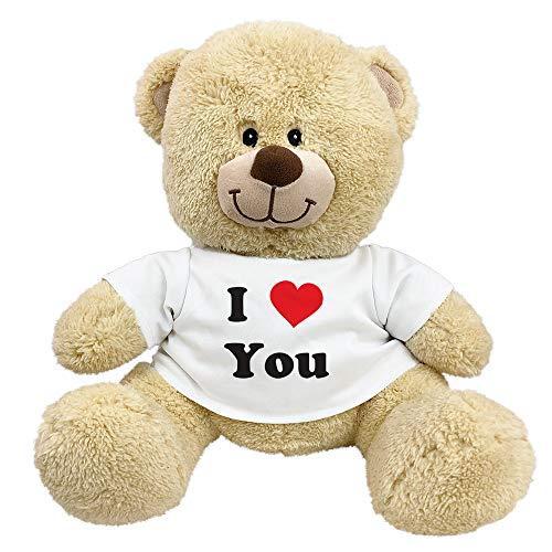 GiftsForYouNow I Love You Teddy Bear with Shirt, 11