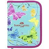 Estojo de Nylon Borboleta, Faber-Castell 18.2208VD, Verde