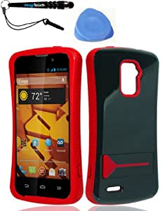 3-in-1 Bundle ZTE N9510 Warp 4G Infuse Case Red + IMAGITOUCH(TM) Touch Screen Stylus Pen + Pry Tool Case Opener