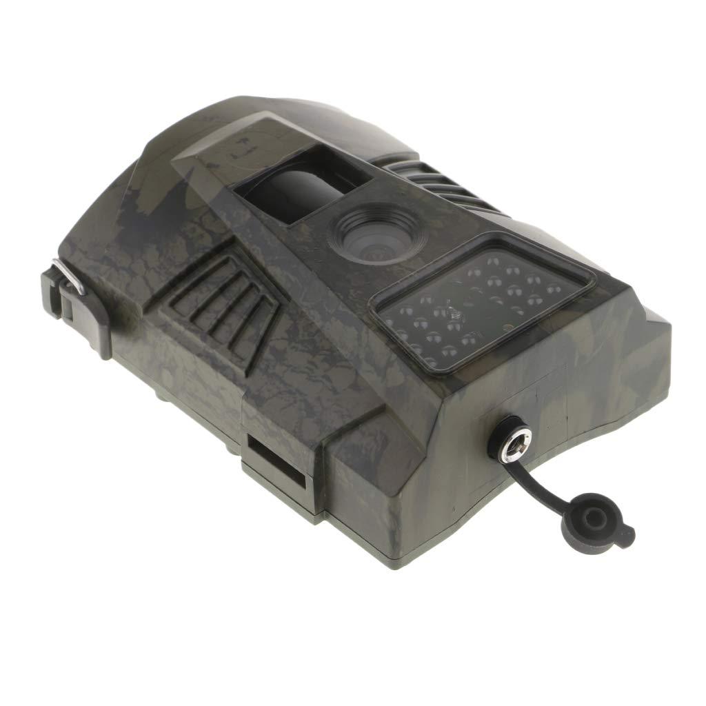 perfk Kit de Cámara Cazar Rastreo Infrarrojo Exploración Ht-001 Transmisión GPRS MMS al Teléfono - con Control Remoto (Verde)