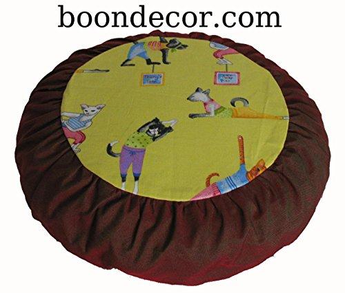 Meditation Cushion Zafu Pillow for Children - Yoga Kitties