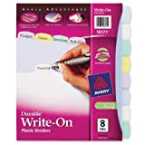 Avery  Translucent Durable Write-On Plastic Dividers, 8-Tab Set (16171), Office Central
