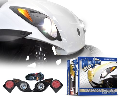 Madjax 02-015 Yamaha Drive Golf Cart Led Light Kit Headlights + Tail + Harness