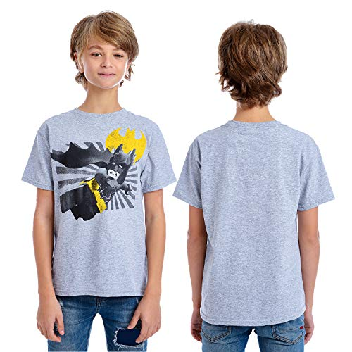 DC Comics Boys' Little Lego Batman T-Shirt, Gray, 5/6