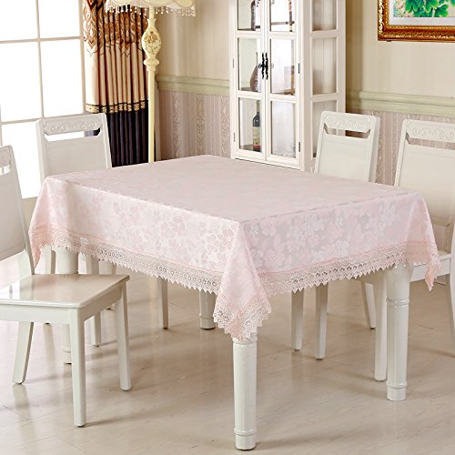 A9 100100cm ZXY Fashion home decoration European style garden tablecloths, embroidered lace tablecloths, wear, antifouling, dustproof, multipurpose rectangular tablecloth,A2,150  150cm