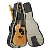 Music Area TANG30 Double Gig Bag Acoustic Guitar x1 and Electric Guitar x1 Waterproof Patented - Black