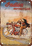 Used Indian Motorcycles Best Deals - The Indian Motorcycles Vintage Look Reproduction Metal Signs 12X16 Inches