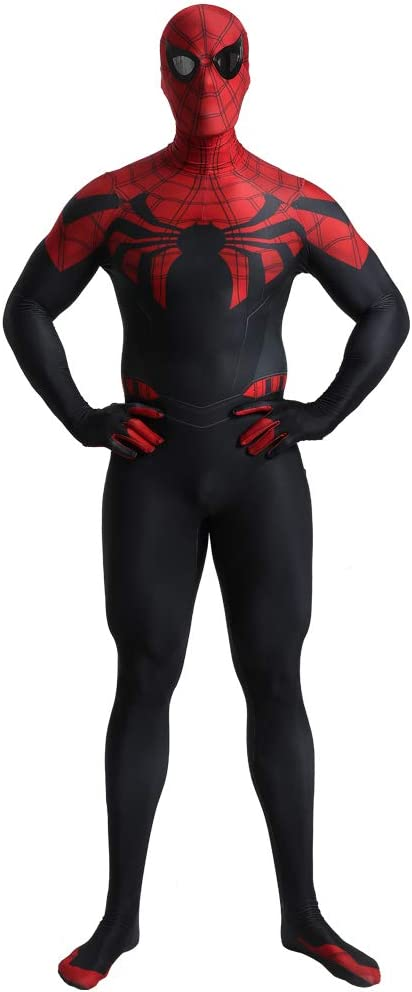 FYBR Disfraz de superpiel de Hombre araña Oscuro para Adulto ...