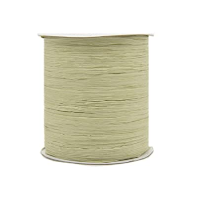 Amazon com: 273 Yards Natural Cotton Raffia Yarn Crochet